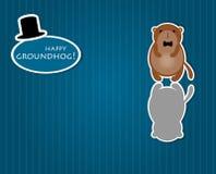 Cute cartoon groundhog Stock Photos