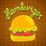Cute cartoon hamburger image. Royalty Free Stock Photos