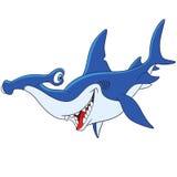 Cute cartoon hammerhead shark Stock Image
