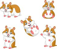 Cute cartoon hamsters collection set