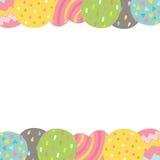 Cute cartoon Happy Birthday card with balloons . Stock Photo