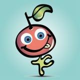 Cute cartoon happy cherry with tongue Stock Image