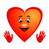 Cute cartoon heart Royalty Free Stock Photo