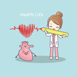 Cute cartoon heart with doctor Royalty Free Stock Photos