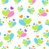 Cute cartoon hearts for scrapbook paper Royalty Free Stock Photo