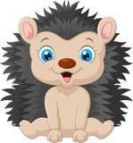 Cute Cartoon Hedgehog Child Stock Photos
