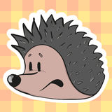 Cute cartoon hedgehog Stock Photos