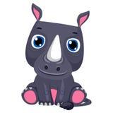 Cute Cartoon rhinoceros vector illustration