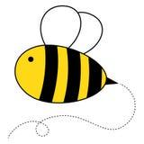 Cute cartoon honey bee. Drawing stock illustration