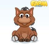 Cute Cartoon Horse Stock Photo