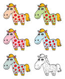 Cute cartoon horse Royalty Free Stock Photography