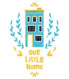 Cute cartoon houses vector illustration
