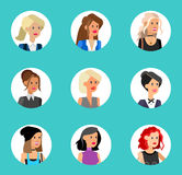 Cute cartoon human avatars set Royalty Free Stock Photo