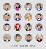 Cute cartoon human avatars set Royalty Free Stock Image