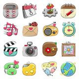 Cute icon set for Web and Mobile App vector illustration