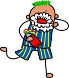Little Boy Brushing His Teeth stock illustration