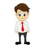Cute Cartoon Illustration of An Office Worker Royalty Free Stock Photography