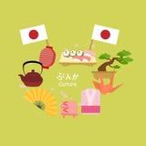 Cute cartoon japanese culture Royalty Free Stock Image