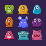 Cute cartoon jelly monsters, vector Royalty Free Stock Image