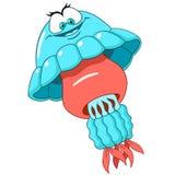Cute cartoon jellyfish Royalty Free Stock Photography