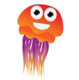 Cute cartoon jellyfish Royalty Free Stock Photos