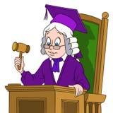 Cute cartoon judge boy Stock Photo
