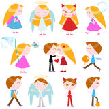 Cute cartoon kids Stock Photo
