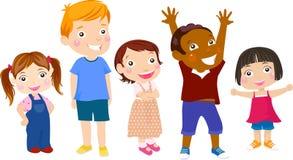 Cute cartoon kids Stock Images