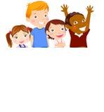 Cute cartoon kids frame. Cute cartoon four kids frame Stock Image