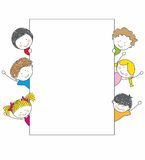 Cute cartoon kids frame Royalty Free Stock Photos