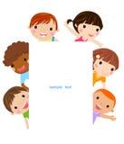 Cute cartoon kids frame Stock Image