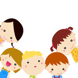Cute cartoon kids frame Stock Photography
