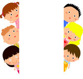 Cute cartoon kids frame Stock Images