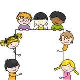 Cute cartoon kids frame Royalty Free Stock Photography