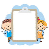 Cute cartoon kids frame Royalty Free Stock Images