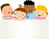 Cute cartoon kids frame. Illustration of cute cartoon kids frame Royalty Free Stock Image