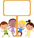 Cute cartoon kids frame. Illustration of cute cartoon kids frame Stock Photo