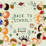 Cute cartoon kids frame. Place for your text Royalty Free Stock Photos