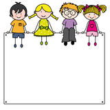 Kids frame. Cute cartoon kids frame. Space for text or photo Stock Photo