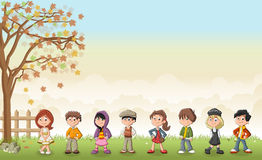 cute cartoon kids. Royalty Free Stock Photography