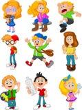 Cute cartoon kids Royalty Free Stock Photo