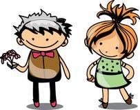 Cute cartoon kids,vector Royalty Free Stock Photo