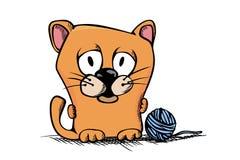 Cute cartoon kitty Stock Photos