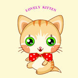 Cute cartoon kitty Stock Photography