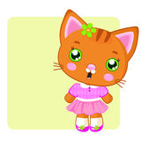 Cute cartoon kitty Royalty Free Stock Photo