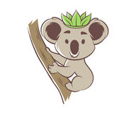 Cute cartoon koala Royalty Free Stock Image