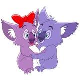 Cute cartoon koalas Royalty Free Stock Images