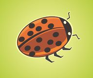 Cute cartoon ladybug Stock Image