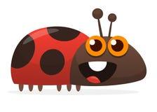 Cute cartoon ladybug. Vector illustration isolated. Cute cartoon ladybug. Vector illustration isolated royalty free illustration