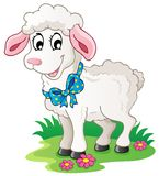 Cute cartoon lamb Royalty Free Stock Photos